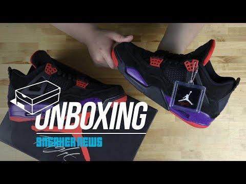 """Unboxing The Air Jordan 4 """"Raptors"""""""