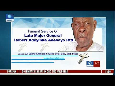 Funeral Service Of Major Gen Robert Adeyinka Adebayo Rtd Pt 1