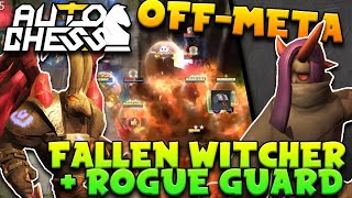 Rogue Guard (new LEGENDARY DEMON) + Off Meta Fallen Witcher Build = GOOD? | Auto Chess Mobile