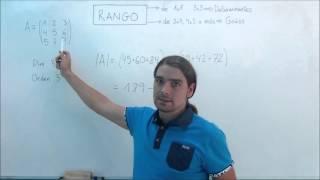 Rango de una Matriz 3x3 con Determinantes