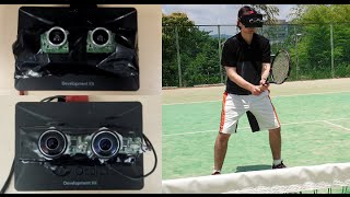Playing Tennis in The Augmented Reality Oculus Rift