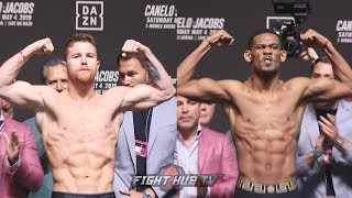 CANELO ALVAREZ VS DANIEL JACOBS - FULL WEIGH IN NEAR BRAWL & FACE OFF VIDEO