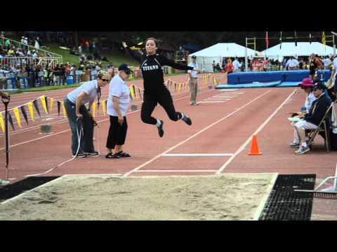 Sara Czarnick long jump, Class C champ