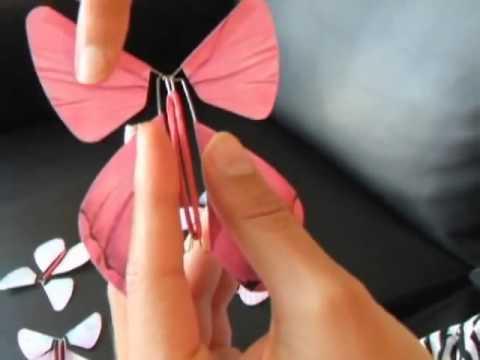 Как сделать летающую бабочку своими руками