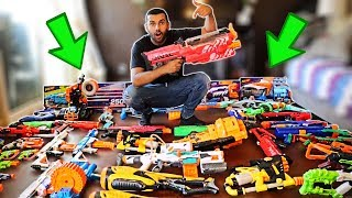 MY ENTIRE NERF GUN COLLECTION!!!! YOU WON'T BELIEVE IT!!! *INSANELY MASSIVE*