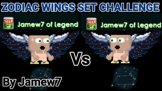 ZODIAC WINGS SET CHALLENGE! + (PRO SET) OMG!! - | Growtopia | Jamew7