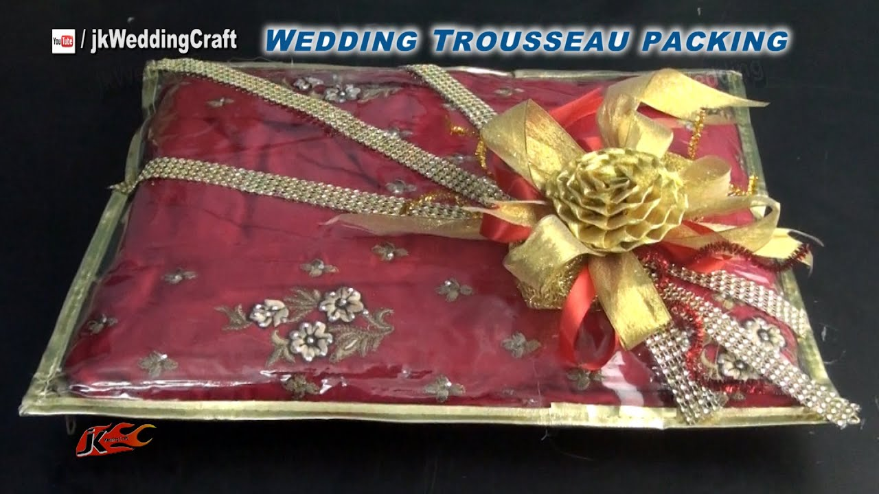 Creative Indian Wedding Gift Ideas : to pack Indian Dress for Trousseau Wedding Trousseau Packing ideas ...