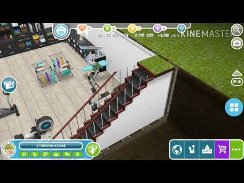 The Sims Freeplay -  Mansão com Lavanderia