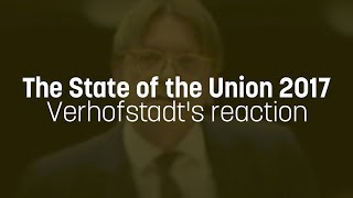 Verhofstadt praises Juncker, slams Farage in reaction to 2017 State of the Union speech