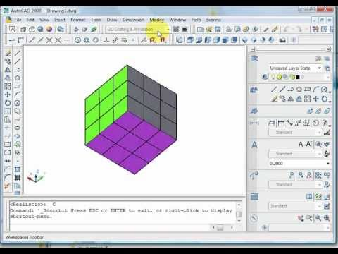 Magic Cube Autocad 3d Solution Rubik S Youtube