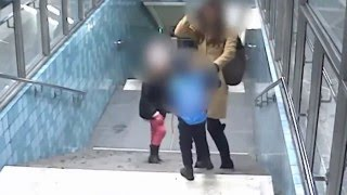 Woman with kids gets hit as she tried to stop a pickpocket  (Sweden/Stockholm)