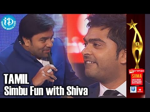 SIIMA 2014 Tamil - Simbu Fun With Shiva   Stylish Star In South Indian Cinema