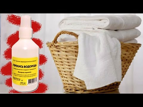 Как отбелить перекисью водорода одежду в домашних условиях
