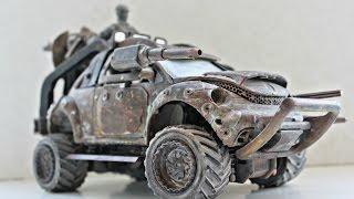 Машинка MAD MAX. Тюнинг модели Жука(Машина MAD MAX. Тюнинг модели Жука (Volkswagen Beetle) в стиле боевой модели из фильма. Канал Сами с усами - своими руками..., 2016-04-07T08:00:41.000Z)
