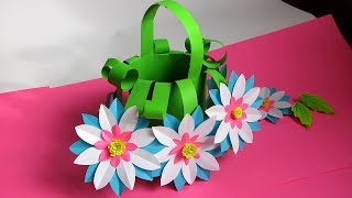 DIY: How to Make Beautiful Flower Bouquet With Colour Paper!!! Mothers Day
