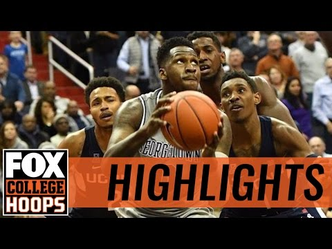 Georgetown rallies UConn 72-69 | 2017 COLLEGE BASKETBALL HIGHLIGHTS