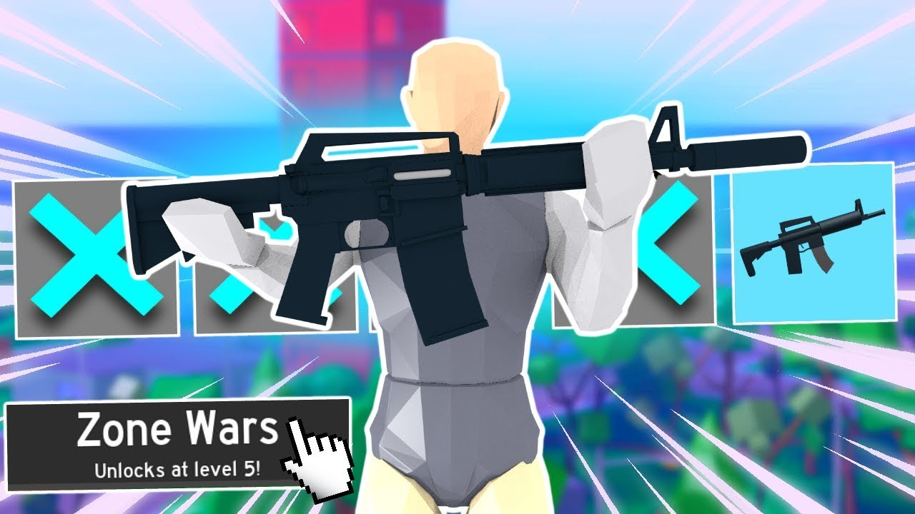 I can only use ONE gun in ZONE WARS... (Strucid) - YouTube