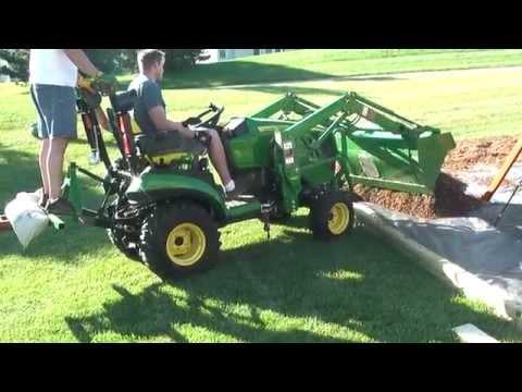 13 John Deere 1025R Loader Work - YouTube