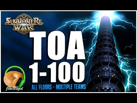 SUMMONERS WAR : Full Trial of Ascension Floors 1-100 - Multiple Teams