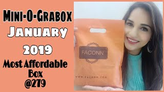 Mini-O-Grabox January 2019 | @ 279 Most Affordable Subscription Box | Unboxing + Review |