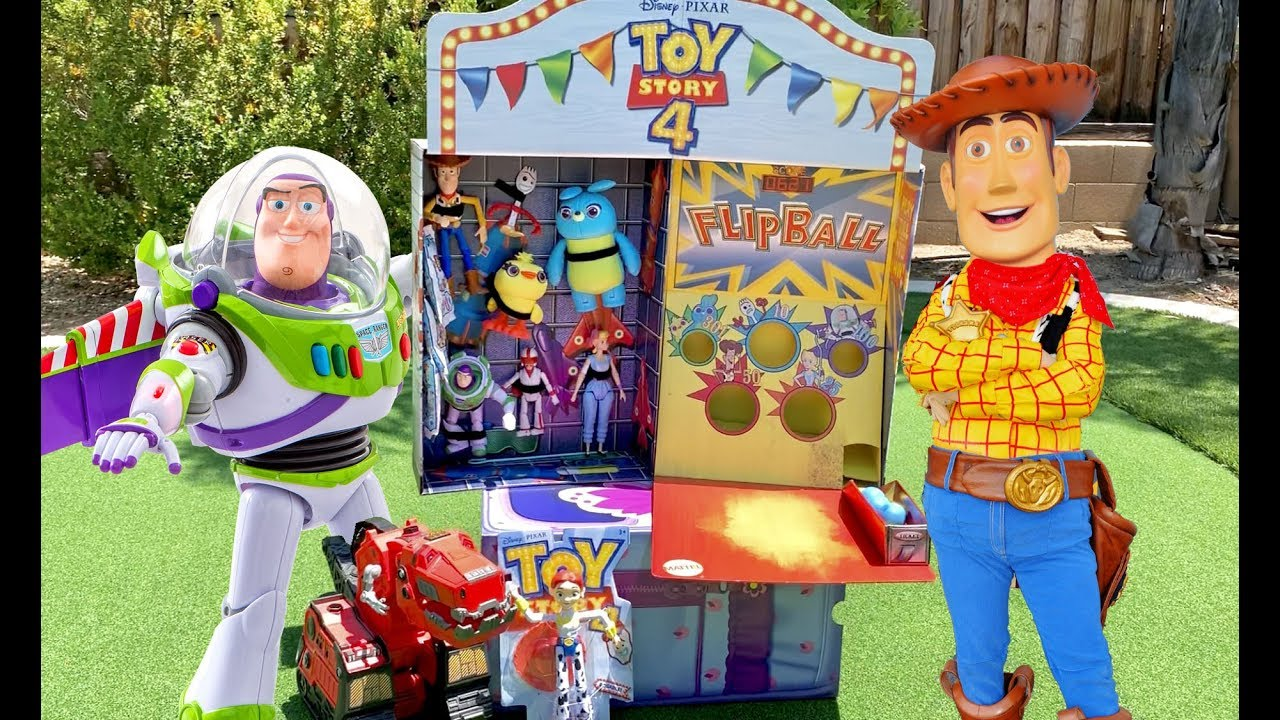 Carnival Toy Box Pink: Toy Story 4 Carnival MYSTERY Box From Mattel With Flip