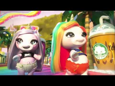 игрушка пупси единорог Poopsie Surprise Unicorn фиолетовая