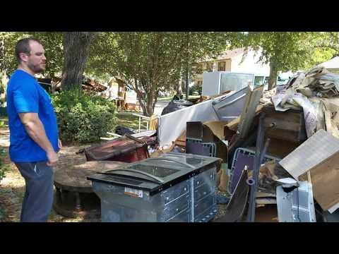 Northsire Neighborhood in in rubble after Hurricane Harvey