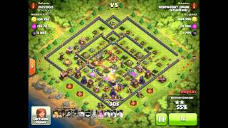 Clash of Clans - 6 Golems 3 Jump spells 4500 trophies