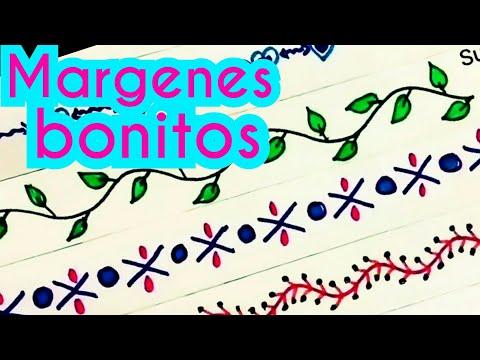 margenes / marcos para cuadernos | margenes bonitos | bordes para cartas | margenes para cuadernos
