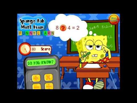 Губка Боб учит математику # 2. Спанч Боб. Онлайн игра.
