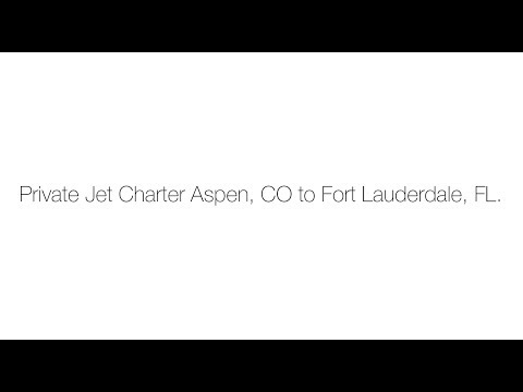 Private Jet Charter Aspen, CO to Fort Lauderdale, FL