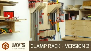 Build article: http://jayscustomcreations.com/2016/09/clamp-rack-version-2/ Shop Projects Playlist: https://www.youtube.com/playlist?