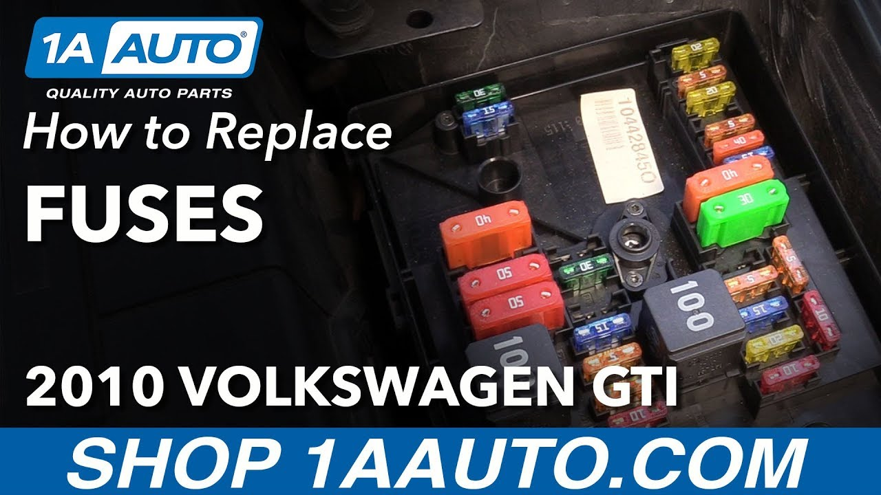 how to replace fuses 10-14 volkswagen gti