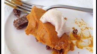 Raw Vegan Delicious Pumpkin Pie!!! Thanksgiving Recipe :) | Dara Dubinet