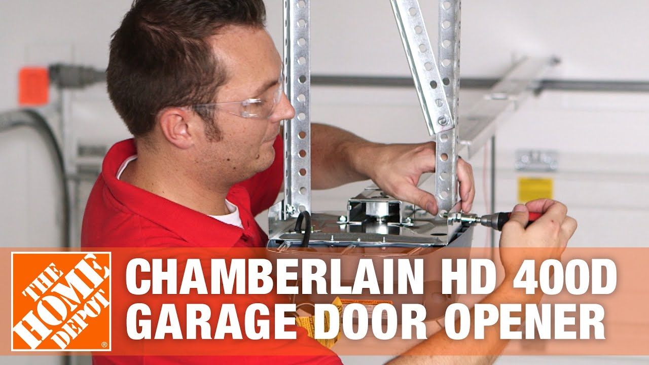 small resolution of chamberlain hd 400d garage door opener home security the home depot youtube