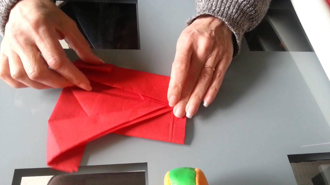 pliage serviette kimono