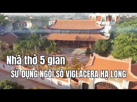 Nhà Thờ Gia đình 5 Gian Sử Dụng Ngói Sò Viglacera Hạ Long | Ngói Sò Viglacera Hạ Long Tại Hưng Yên