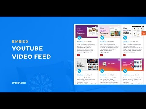 How to embed Youtube video channel on your website?