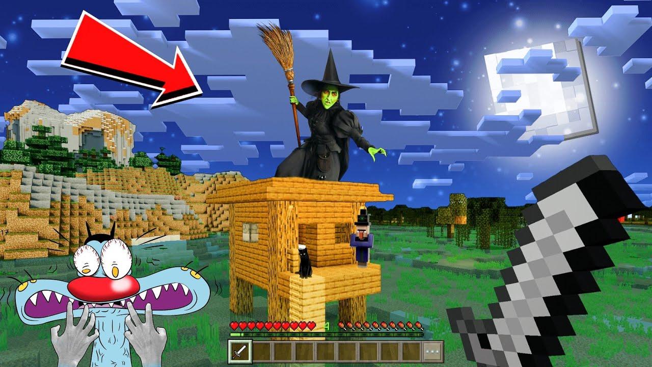 Minecraft | Oggy Jack Found Witch House Survival Series #3 | Killer Spider