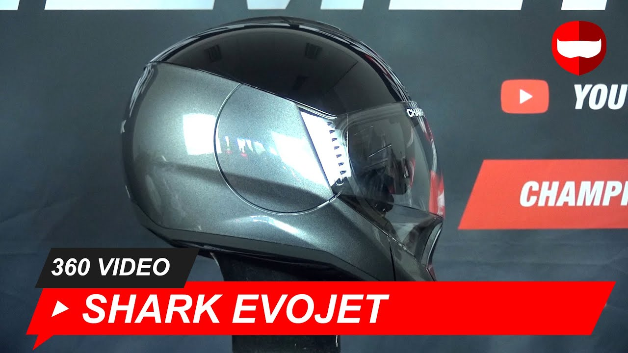 Shark EvoJet Dual Blank AKA Motorcycle Helmet - ChampionHelmets.com