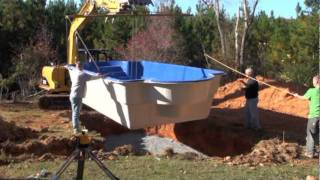 Fiberglass pool in 5 minutes.mpg