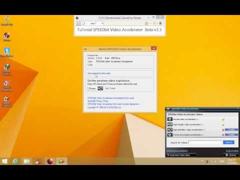 TuTorial SPEEDbit Video Accelerator  Beta V3 3