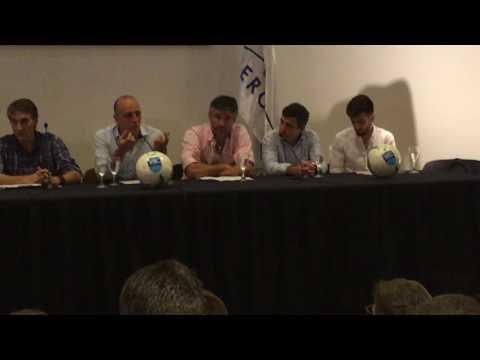 Conferencia del Cuerpo Técnico de la selección uruguaya sub 20.