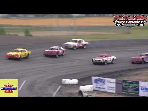Red River Valley Speedway IMCA Hobby Stock Heats (8/17/18)