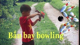Trò chơi con quay lốc xoáy rồng bay | lego ninjago bắn bay bowling