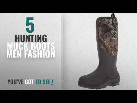 Top 10 Hunting Muck Boots [Men Fashion Winter 2018 ]: Muck Boot Men's Woody Max Hunting Shoes, Mossy