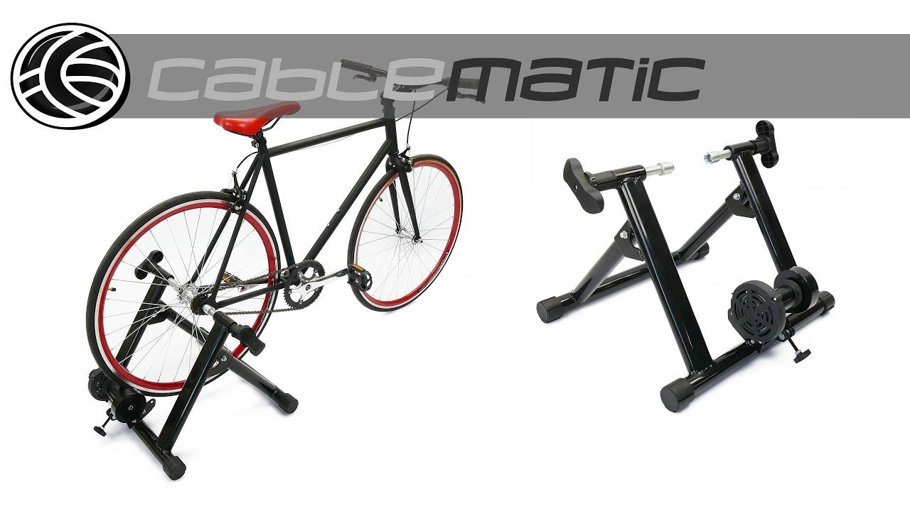 Rodillo De Entrenamiento Para Bicicleta Ajustable Spinning Distribuido Por Cablematic Youtube