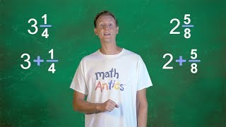 Math Antics - Aḋding Mixed Numbers