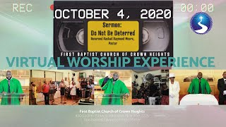 October 4, 2020: Virtual Worship Service