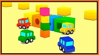 Cartoon Cars - COLOR TOWER GAME! - Car Cartoons for Kids - Car Videos for Children Kid's Cartoons